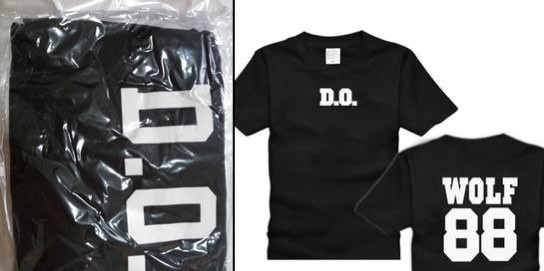 EXO WOLF88 T-SHIRT D.O (SIZE M) RM35 INCLUDE POSTAGE