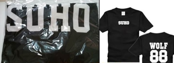 EXO WOLF88 T-SHIRT SUHO (SIZE M) RM45 INCLUDE POSTAGE